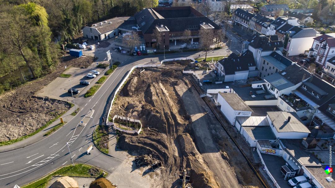 Luftaufnahmen Schlossparkplatz Bedburg